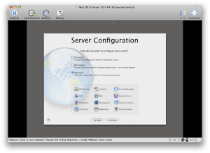 Server Configuration Screen