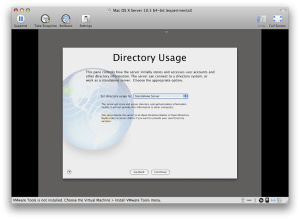 Directory Usage screen