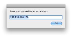 multicast asr address