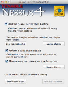 Nessus Server Configuration
