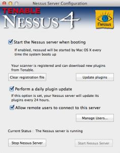 Nessus Server Configuration