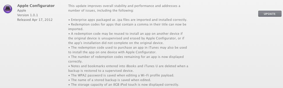 iphone configuration utility mac