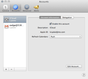 Adding An Account In Mountain Lion's Calendar App