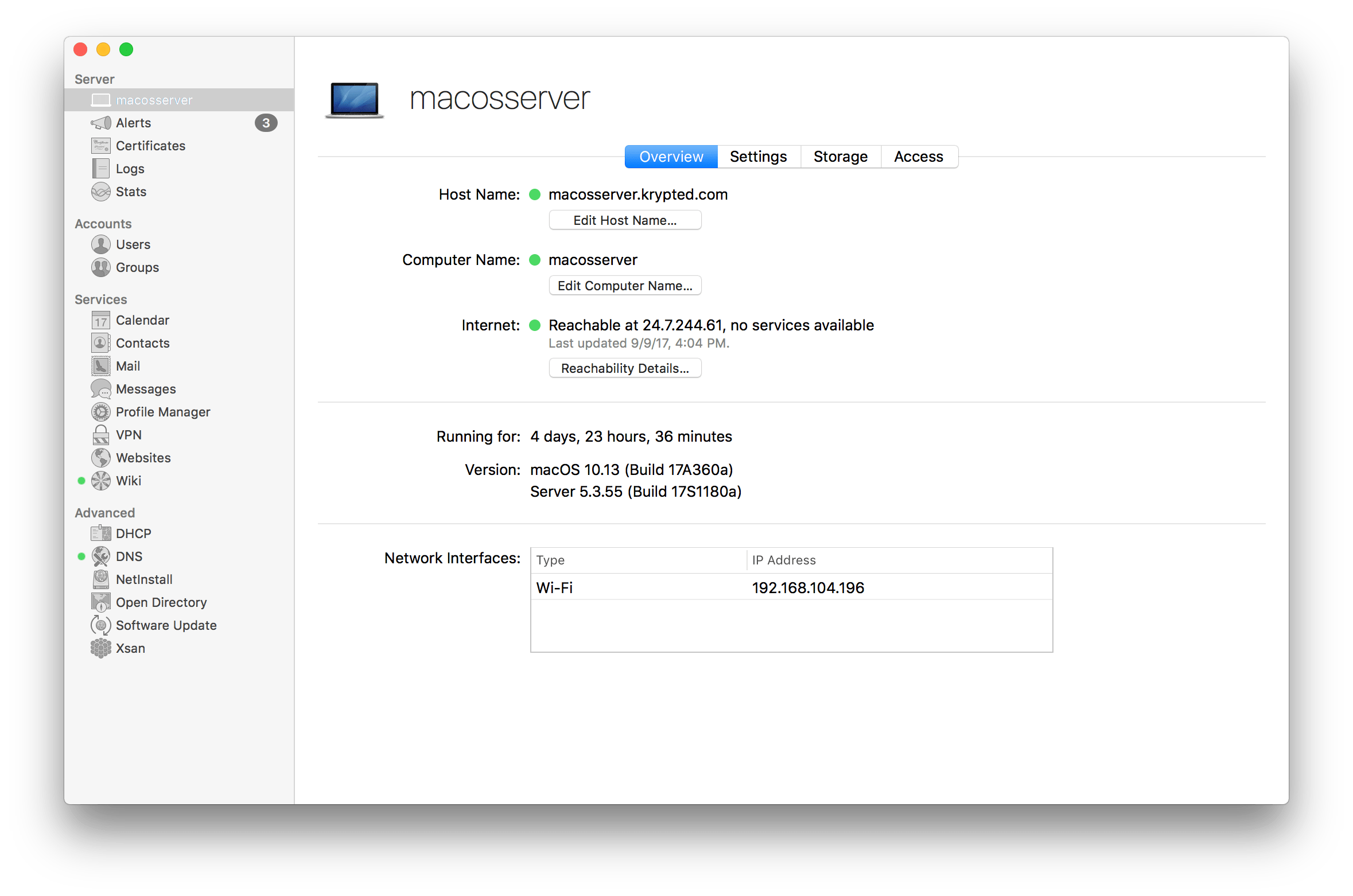 Manage Groups In macOS Server 5.4 Running On High Sierra