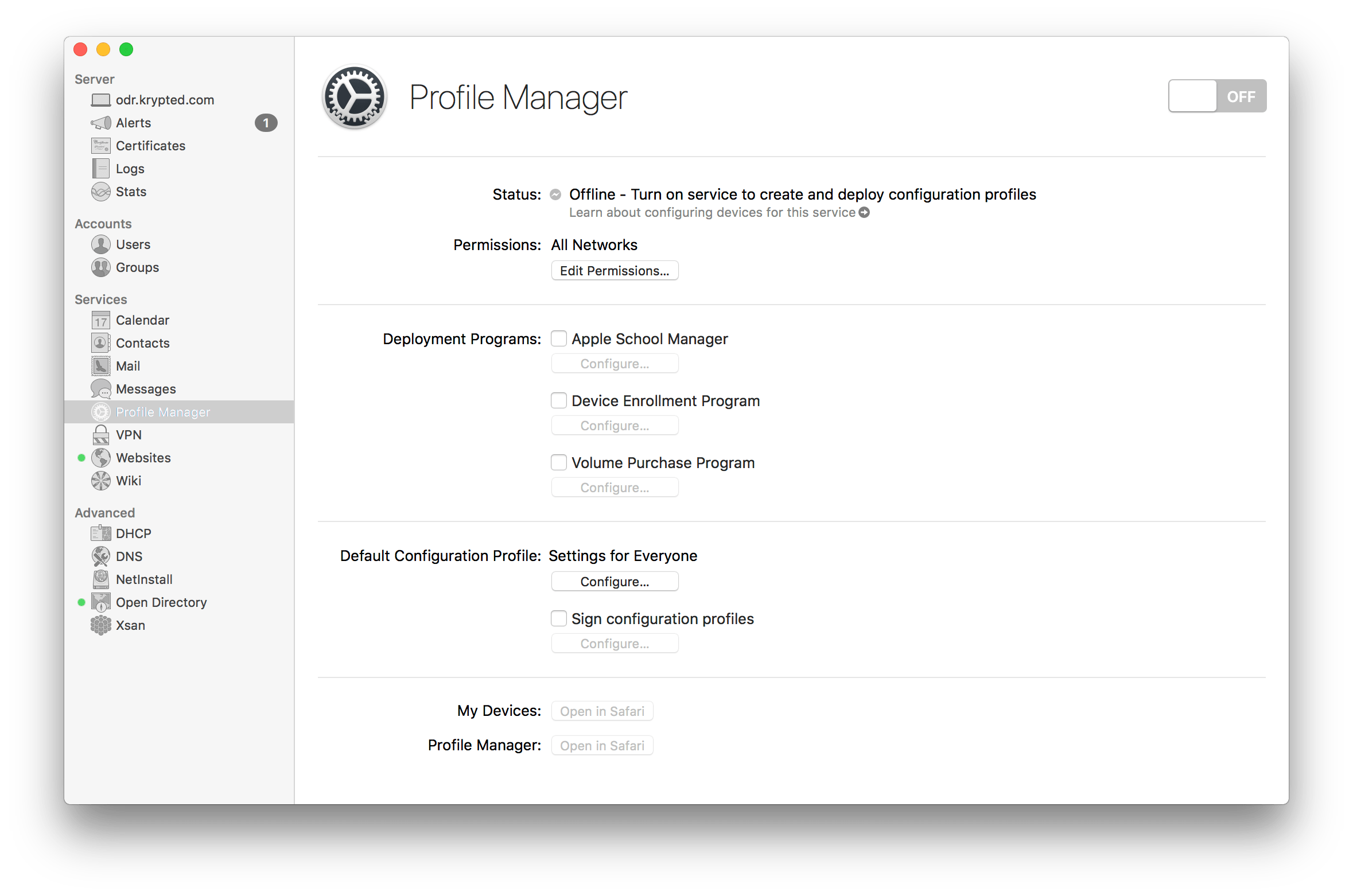 Setup profile manager on macos server 54 krypted xflitez Choice Image