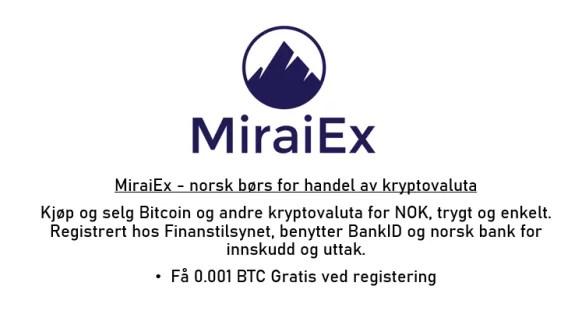 miraiex bitcoin kryptovaluta exchange