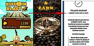 bitcoinblast coinbase gaming earn hry