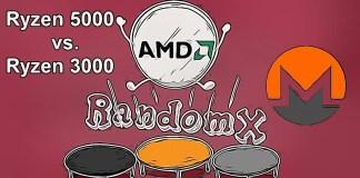 AMD Ryzen 5000 vs. Ryzen 3000 RandomX Monero Mining