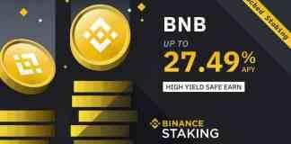 Binance Coin BNB staking úroky