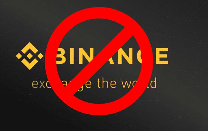 Binance zákaz