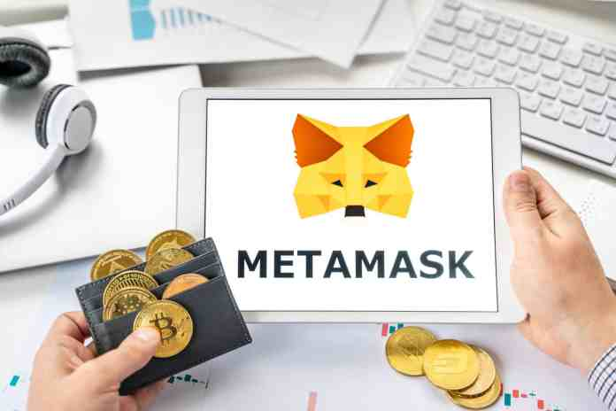 Krypto peňaženka Metamask