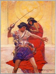 """The original cover art by Frank E. Schoonover for """"A Princess of Mars"""""""