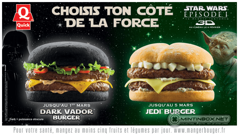 Star Wars Themed Burgers Coming to France