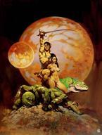 A Princess Of Mars, book cover, Frank Frazetta