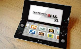 Nintendo's upcoming new handheld, the 3DS XL. Oooh, shiny.