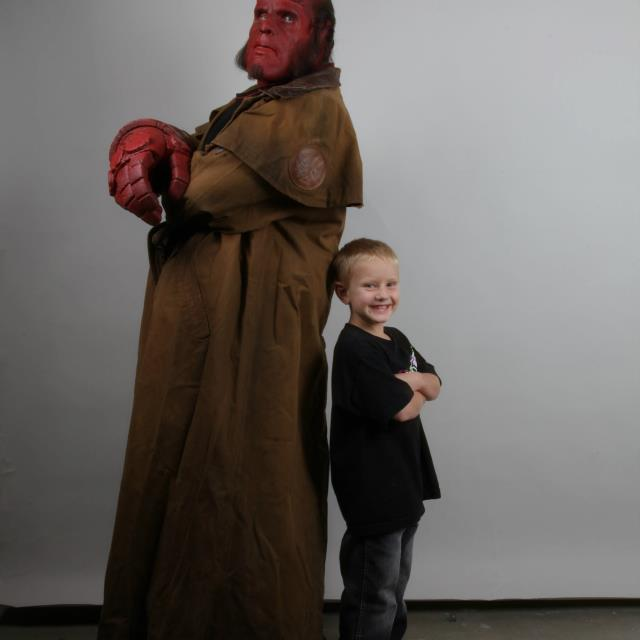 """Special Effects Studio & Ron Perlman """"Hellboy"""" Team Up To Grant Wishes of Two Young Boys"""