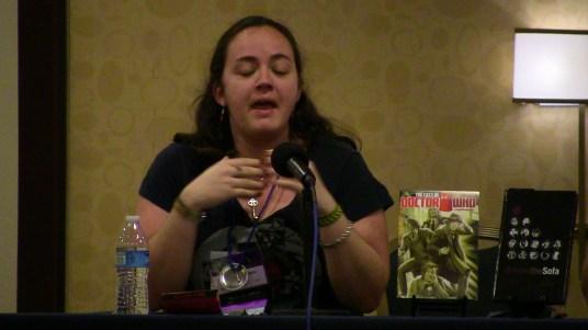 Liz Carlie of 'The Corsair's Closet' on the 'Next Doctor' panel.