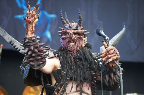 Dave Brockie as GWAR's Oderus Urungus.