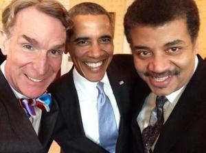 Bill Nye, Barack Obama, and Neil deGrasse Tyson