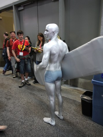Do you want to stand all day because your paint will rub off? Or have him muscle past you in a crowded room?