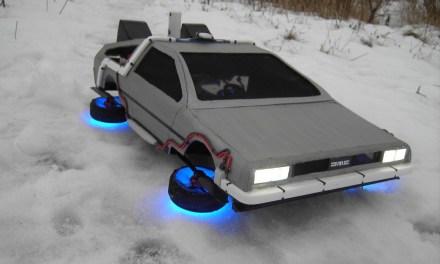 Flying Model DeLorean Doesn't Need Roads