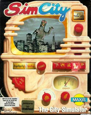 The artwork for the original SimCity from 1989.
