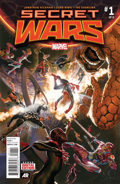 Writer: Jonathan Hickman Artists: Esad Ribic and Ive Svorcina Cover by Alex Ross MARVEL