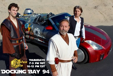 Docking Bay 94 is broadcast live every Thursday between 7-9 p.m. PST / 10-12 p.m. EST.