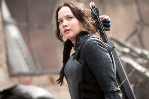 "THE HUNGER GAMES: MOCKINGJAY - PART 1 - 2014 FILM STILL - Jennifer Lawrence stars as ""Katniss Everdeen"" - Photo Credit: Murray Close/Lionsgate"
