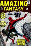 Amazing Fantasy #15 (Aug. 1962). The issue that first introduced the fictional character. It was a gateway to commercial success for the superhero and inspired the launch of The Amazing Spider-Man comic book. Cover art by Jack Kirby (penciller) and Steve Ditko (inker).