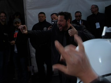 Greg Grunberg enjoys the spectacle.