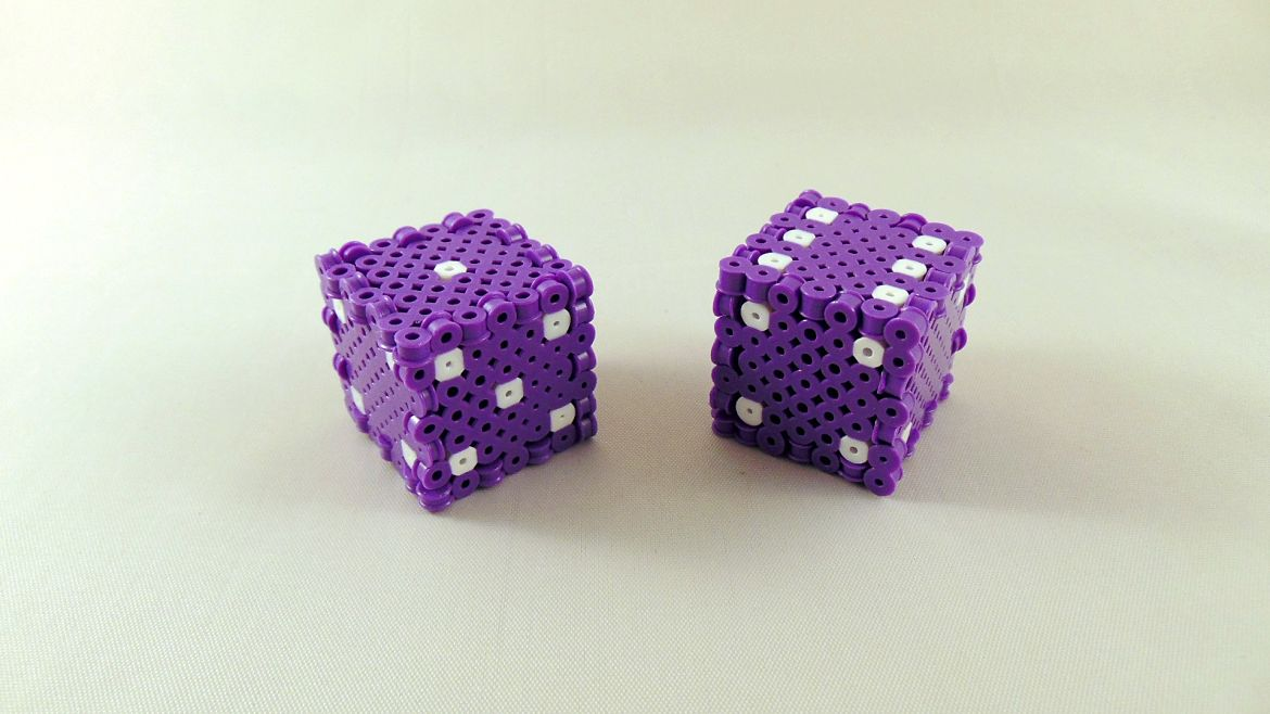 Easy 3D Perler Bead Project: Perler Bead Dice Tutorial