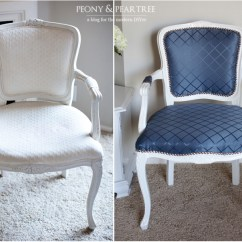 Reupholstering A Chair Shabby Chic Slipcovers For Wingback Chairs Diy Reupholstered Craigslist Using Curtains Melodrama All Done