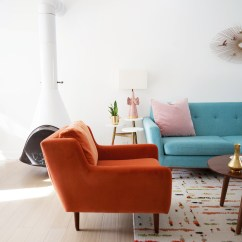 Orange Living Room Chair Contemporary Ideas New Year Refresh With Article Matrix Chairs Melodrama Velvet From