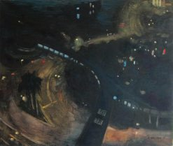 KRYS ROBERTSON: Wanchai Street Circles at Night. 2013. Oil on canvas. 101 x 86 cm