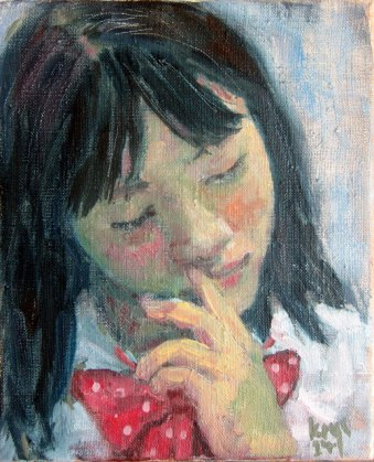 Girl with Red Bow