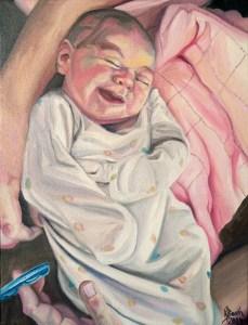 """Quinn Lucille, 2014, Oil on Canvas, 12x9"""", Krystal Booth."""