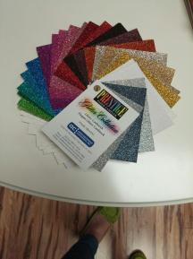 Glitter paper swatches