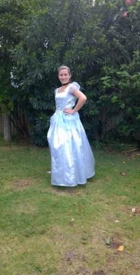 Princess with blue dress