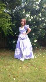 Princess with purple dress