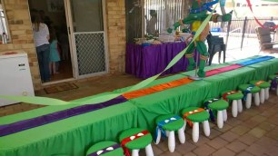 TMNT themed kids tables and stools.