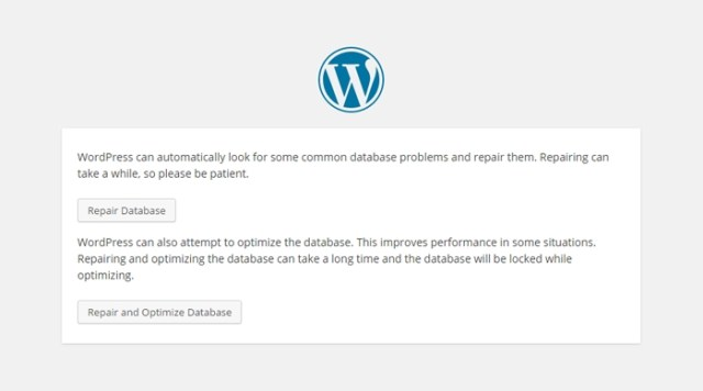 Optimize WordPress Database - In-built tool