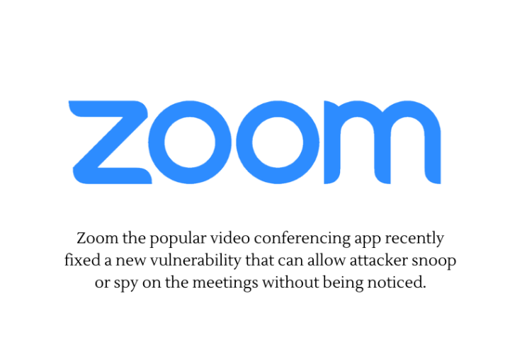 Zoom new issue