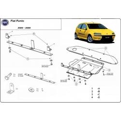 Fiat Punto II kryt pod motor 1.2 8V, 1.3D, 1.4 8V, 1.4 16V