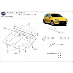 Fiat Grande Punto kryt pod motor 1,2 8V, 1,4 8V, 1,4 16V