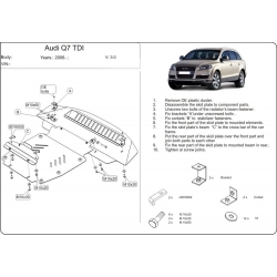 Audi Q7 ne s Off Road Style Paket (cover under the engine