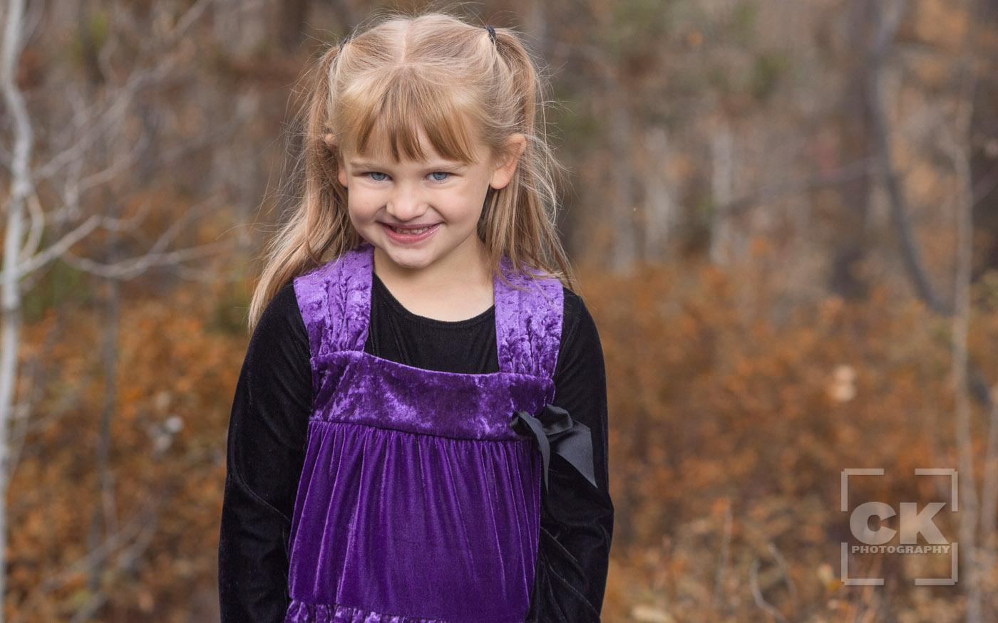Chris Kryzanek Photography children - girl fall colors