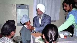 Kirpal Sagar Charitable Hospital, Sprechstunde im Krankenhaus, Dr. Harbhajan Singh, 1985