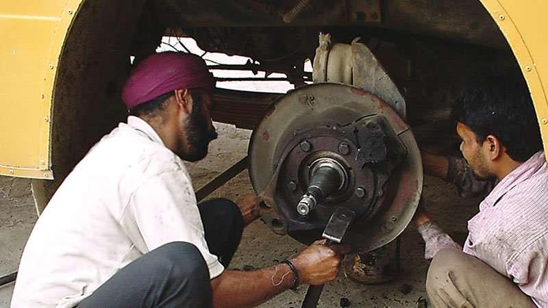 Reparatur der Bremsen