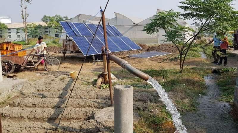 mobile Solaranlage im Einsatz